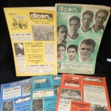 Coleccionismo deportivo: LOTE DE 4 REVISTAS DICEN, N° 42,49,50,51,58,. Lote 235059150