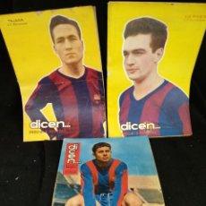 Coleccionismo deportivo: LOTE 4 REVISTAS DICEN, C.F. BARCELONA. TEJADA, VERGÉS, OLIVELLA. Lote 235061405