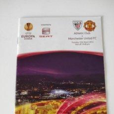 Coleccionismo deportivo: FÚTBOL - UEFA EUROPA LEAGUE - 2011-2012 - OCTAVOS - ATHLETIC CLUB VS MANCHESTER UNITED - BOLETÍN. Lote 235094145