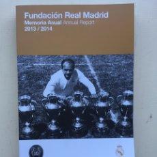 Coleccionismo deportivo: FUNDACIÓN REAL MADRID 2013 2014. Lote 235190645