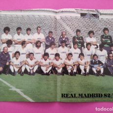 Coleccionismo deportivo: REVISTA OFICIAL REAL MADRID Nº 388 1982 POSTER PRESENTACION PLANTILLA LIGA TEMPORADA 82/83. Lote 235326415
