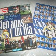 Collezionismo sportivo: REVISTA AS CONDENADOS A GANAR CIEN AÑOS Y UN DÍA, REAL MADRID FUTBOL. MARZO 2002. CON PÓSTER. Lote 235517075
