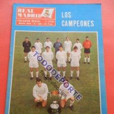 Coleccionismo deportivo: REVISTA OFICIAL REAL MADRID Nº 228 REAL MADRID CAMPEON DE LIGA 68/69 ALIRON 1968/1969 - PIRRI. Lote 235621180