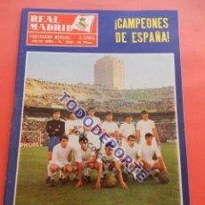 Coleccionismo deportivo: REVISTA OFICIAL REAL MADRID 1969 Nº 230 CAMPEON JUVENILES 69 - VELAZQUEZ - PUSKAS. Lote 235637835