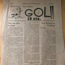 Coleccionismo deportivo: ANTIGUO SEMANARIO DEPORTIVO GOL BADAJOZ 1935 AÑO II NUM 44 RARO. Lote 235653395