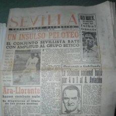 Coleccionismo deportivo: ANTIGUO Y RARO PERIODICO FUTBOL - SEVILLA SUPLEMENTO DEPORTIVO - AÑO 1945. Lote 235654765