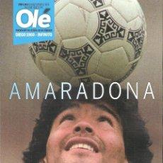 Coleccionismo deportivo: REVISTA ESPECIAL OLÉ (ARGENTINA) A MARADONA 1960-INFINITO. Lote 235708745