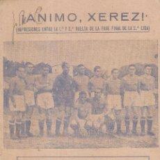 Coleccionismo deportivo: REVISTA FOLLETO DEPORTIVO META DEDICADO AL XEREZ CLUB EN LA FASE FINAL CAMPEONATO 1942/43. Lote 235710290