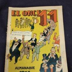 Coleccionismo deportivo: EL ONCE, ALMANAQUE PARA 1951, ILUSTRACIONES DE CASTANYS. Lote 235965440