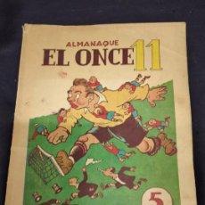 Coleccionismo deportivo: EL ONCE, ALMANAQUE PARA 1950, ILUSTRACIONES DE CASTANYS. Lote 235965565