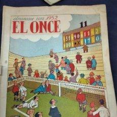 Coleccionismo deportivo: EL ONCE, ALMANAQUE PARA 1952, ILUSTRACIONES DE CASTANYS. Lote 235965725