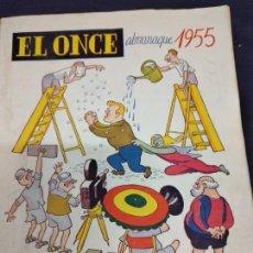 Coleccionismo deportivo: EL ONCE, ALMANAQUE PARA 1955, ILUSTRACIONES DE CASTANYS. Lote 235965990