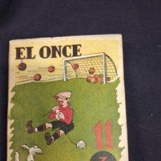 Coleccionismo deportivo: ALMANAQUE DE BOLSILLO EL ONCE AÑO 1946. ILUSTRACIONES DE CASTANYS. Lote 235967470