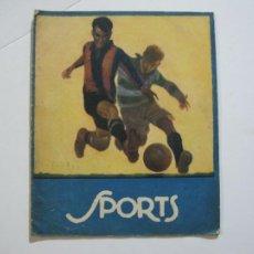Coleccionismo deportivo: SPORTS-NUMERO 1-AÑO 1923-VALENCIA VS FC BARCELONA-ZAMORA-Y OTROS DEPORTES-VER FOTOS-(V-22.467). Lote 236031595