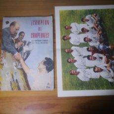 Coleccionismo deportivo: REVISTA CAMPEÓN DE CAMPEONES. LA TEMPORADA CUMBRE DEL REAL MADRID CON POSTER DE TEMPORADA 1956-1957. Lote 236067625