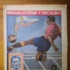 Coleccionismo deportivo: EL BALÓN. PROGRAMA DE FUTBOL Y ESPECTÁCULOS. REAL MADRID - VALLADOLID.. Lote 236068195