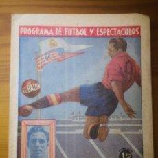 Coleccionismo deportivo: EL BALÓN. PROGRAMA DE FUTBOL Y ESPECTÁCULOS. REAL MADRID - TARRAGONA. Lote 236068375