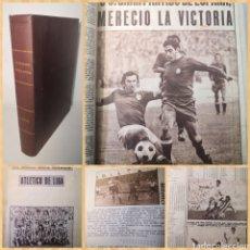 Coleccionismo deportivo: TEMPORADA 1973-1974.TOMO CASERO ÚNICO CON CRÓNICAS A MÁQUINA DE ESCRIBIR Y RECORTES. Lote 236106960
