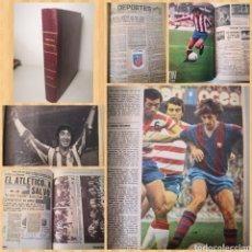Coleccionismo deportivo: TEMPORADA 1974-1975 TOMO CASERO ÚNICO CON CRÓNICAS A MÁQUINA DE ESCRIBIR Y RECORTES. Lote 236112825