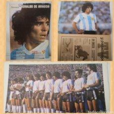 Coleccionismo deportivo: POSTER MARADONA. HERALDO DE ARAGON, 1982. DEDICADO AL MUNDIAL ESPAÑA 82. Lote 236127110