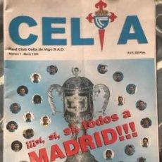 Coleccionismo deportivo: ANTIGUA REVISTA REAL CLUB CELTA DE VIGO NÚMERO 1 1994. Lote 236129985