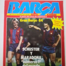 Coleccionismo deportivo: POSTER PLANTILLA BARCELONA . REVISTA LA SAGA DEL BARÇA N° 9. SEPTIEMBRE 1983. MARADONA. SCHUSTER. Lote 236130835