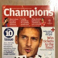 Coleccionismo deportivo: OFFICIAL MAGAZINE UEFA CHAMPIONS LEAGUE 21. JOE COLE. RONALDINHO. GIOVANNI DOS SANTOS.. Lote 236231075