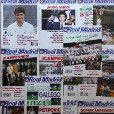 Coleccionismo deportivo: LOTE 11 REVISTA REAL MADRID BOLETIN AÑO 1988 COMPLETO 449-450-451-452-453-454-455-456-457-458-459. Lote 236318620