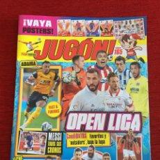 Coleccionismo deportivo: REVISTA JUGON # 165 POSTER REAL MADRID TEMPORADA 2020 2021 HISTORIA DE CROMOS DE MESSI ROOKIE. Lote 236438045
