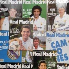 Coleccionismo deportivo: LOTE 11 REVISTA REAL MADRID BOLETIN INFORMATIVO AÑO 1990 COMPLETO Nº 9-10-11-12-13-14-15-16-17-18-19. Lote 236513550