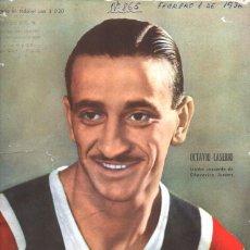 Coleccionismo deportivo: 1936 EL GRAFICO # 865 CASERIO CHACARITA OLIMPIADAS DE BERLIN 1936 RIVER PLATE VS NACIONAL LINDBERG. Lote 236659940