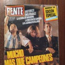 Coleccionismo deportivo: REVISTA GENTE MUNDIAL 90 ARGENTINA SUBCAMPEON EN EL BALCON DE LA CASA ROSADA , MARADONA. Lote 236722035
