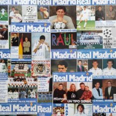 Coleccionismo deportivo: LOTE 11 REVISTA REAL MADRID OFICIAL AÑO 1996 COMPLETO Nº 75-76-77-78-79-80-81-82-83-84-85. Lote 237433580