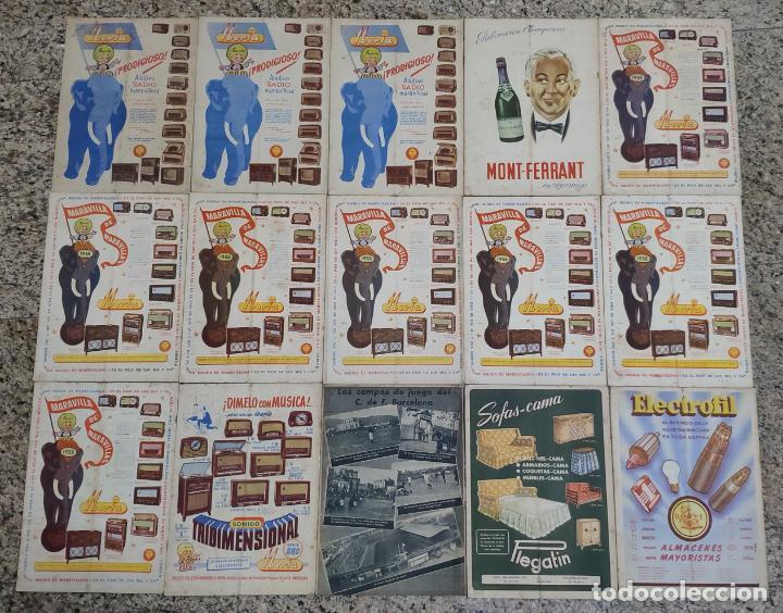 Coleccionismo deportivo: REVISTA OFICIAL CLUB DE FUTBOL BARCELONA (COLECCION COMPLETA) (C.F.B. 1954) - Foto 2 - 237543090