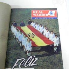 Coleccionismo deportivo: REVISTA REAL MADRID AÑO 1962 AL COMPLETO CON SUS 12 REVISTAS. TOMO ENCUADERNADO. AÑO XIII, 2º EPOCA. Lote 243124245