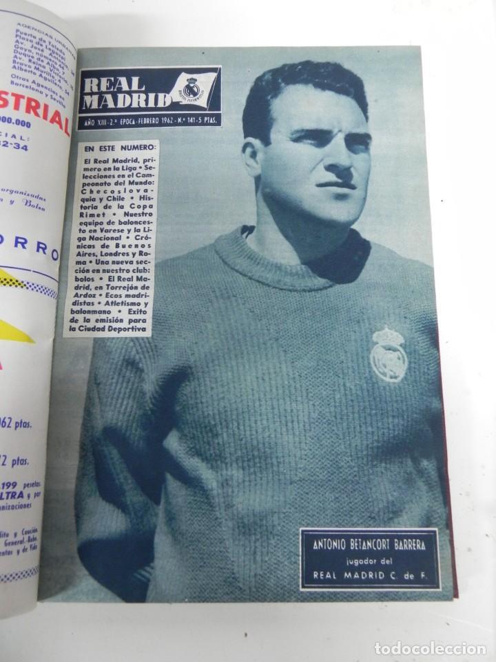 Coleccionismo deportivo: REVISTA REAL MADRID AÑO 1962 AL COMPLETO CON SUS 12 REVISTAS. TOMO ENCUADERNADO. Año XIII, 2º Epoca - Foto 4 - 243124245