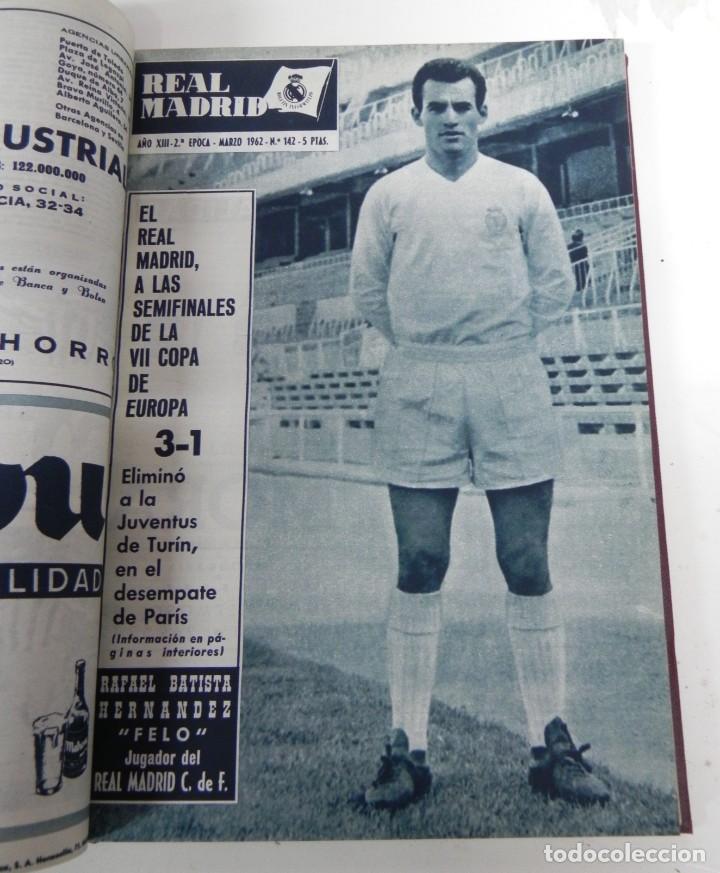 Coleccionismo deportivo: REVISTA REAL MADRID AÑO 1962 AL COMPLETO CON SUS 12 REVISTAS. TOMO ENCUADERNADO. Año XIII, 2º Epoca - Foto 5 - 243124245