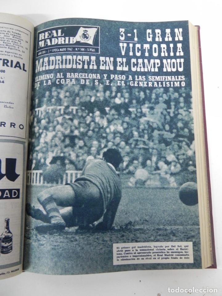 Coleccionismo deportivo: REVISTA REAL MADRID AÑO 1962 AL COMPLETO CON SUS 12 REVISTAS. TOMO ENCUADERNADO. Año XIII, 2º Epoca - Foto 7 - 243124245