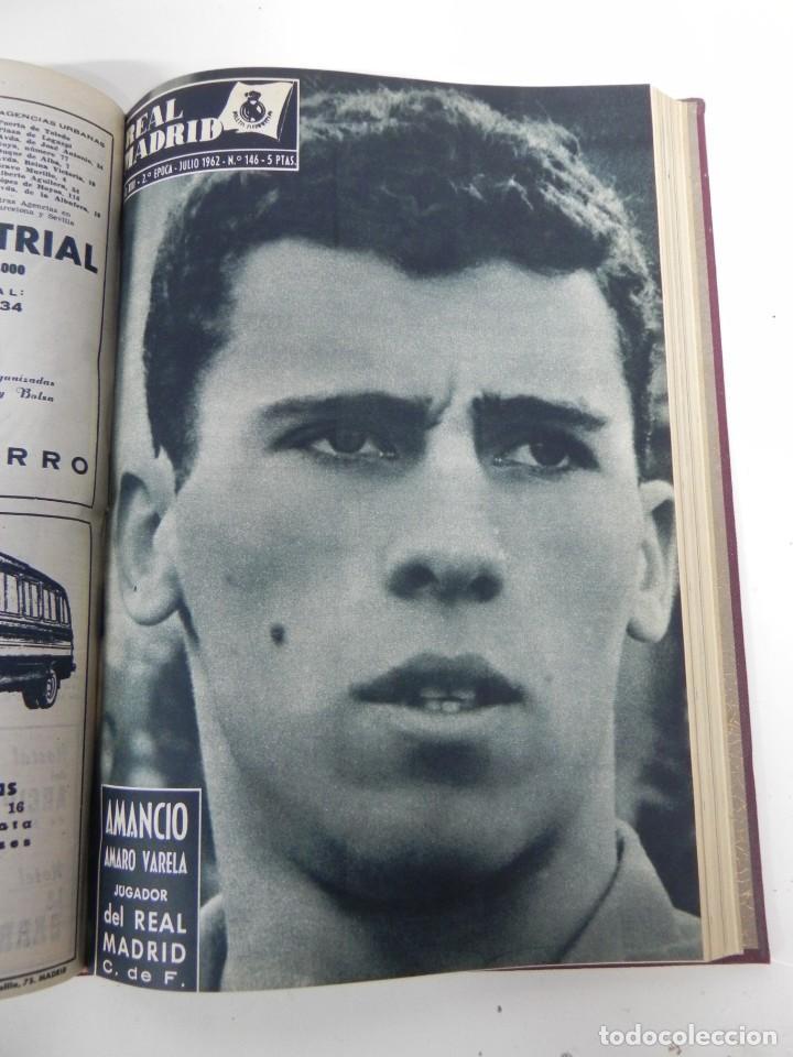 Coleccionismo deportivo: REVISTA REAL MADRID AÑO 1962 AL COMPLETO CON SUS 12 REVISTAS. TOMO ENCUADERNADO. Año XIII, 2º Epoca - Foto 8 - 243124245