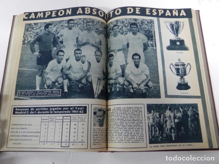 Coleccionismo deportivo: REVISTA REAL MADRID AÑO 1962 AL COMPLETO CON SUS 12 REVISTAS. TOMO ENCUADERNADO. Año XIII, 2º Epoca - Foto 9 - 243124245