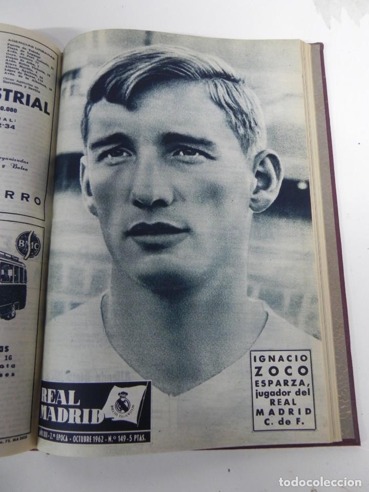 Coleccionismo deportivo: REVISTA REAL MADRID AÑO 1962 AL COMPLETO CON SUS 12 REVISTAS. TOMO ENCUADERNADO. Año XIII, 2º Epoca - Foto 10 - 243124245