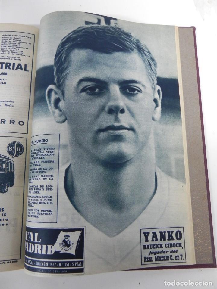 Coleccionismo deportivo: REVISTA REAL MADRID AÑO 1962 AL COMPLETO CON SUS 12 REVISTAS. TOMO ENCUADERNADO. Año XIII, 2º Epoca - Foto 11 - 243124245
