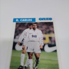 Collectionnisme sportif: FICHA ONZE MONDIAL FRANCIA 98 R. CARLOS - REAL MADRID.. Lote 243427060