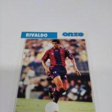 Collectionnisme sportif: FICHA ONZE MONDIAL FRANCIA 98 RIVALDO - BARCELONA.. Lote 243434600