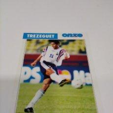 Collectionnisme sportif: FICHA ONZE MONDIAL FRANCIA 98 TREZEGUET - FRANCIA.. Lote 243458915