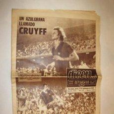 Coleccionismo deportivo: DICEN-UN AZULGRANA LLAMADO CRUYFF-DEBUT CRUYFF FC BARCELONA-6 SEPTIEMBRE 1973-VER FOTOS-(V-22.532). Lote 243645585