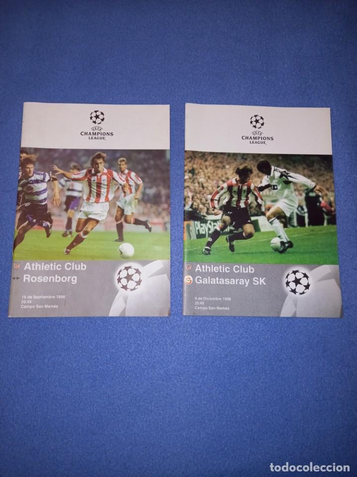 2 REVISTAS ATHLETIC CLUB CHAMPIONS LEAGUE AÑO 1998 (Coleccionismo Deportivo - Revistas y Periódicos - otros Fútbol)