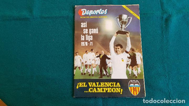 REVISTA DEPORTES ROTATIVO GRAFICO SEMANAL (1971) VALENCIA C.F. - NUMERO ESPECIAL CAMPEON LIGA - RW (Coleccionismo Deportivo - Revistas y Periódicos - otros Fútbol)