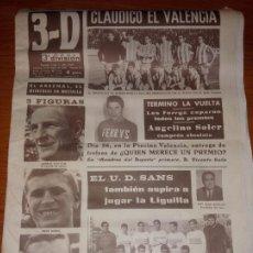 Coleccionismo deportivo: DIARIO 3-D 3ª DIVISION DE VALENCIA DEL 14 DE MARZO DE 1966. Lote 244911040