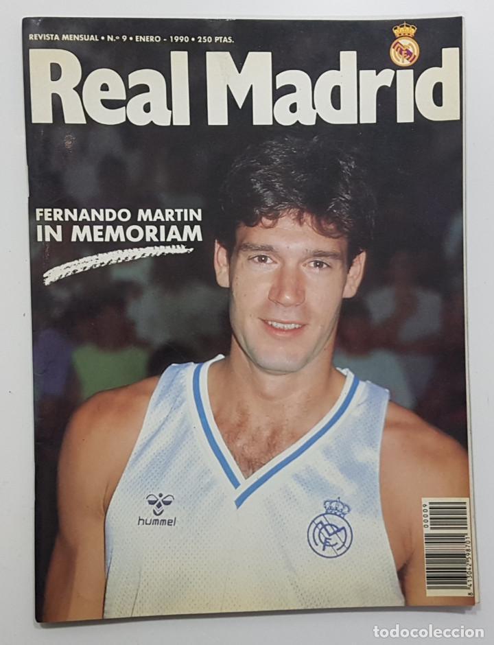 REVISTA REAL MADRID Nº 9 1990. FERNANDO MARTIN BIOGRAFÍA(SIN POSTER), BUYO, PEÑA MADRIDISTA SANT BOI (Coleccionismo Deportivo - Revistas y Periódicos - otros Fútbol)